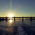 Sunset And Bridge by Girish J