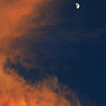 Sunset And Crescent Moon Cloud Series 20 by Bill Marder