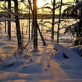 Sunset And Snow by Stefan Pettersson