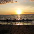 Sunset At Anaeho'omalu Bay by Jeff Stoddart
