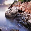 Sunset At Bass Harbor Lighthouse by Mircea Costina Photography