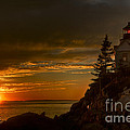 Sunset At Bass Harbor Lighthouse by Oscar Gutierrez
