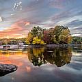 Sunset At Cambridge Reservoir by Jatinkumar Thakkar