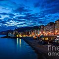 Sunset At Camogli In Liguria - Italy by Kim Petersen