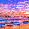 Sunset At Cayucos Pier by Dominic Piperata