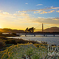 Sunset At Crissy Field With Golden Gate Bridge San Francisco Ca 1 by G Matthew Laughton