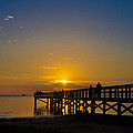 Sunset At Crystal Beach Pier by Bill Cannon