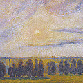 Sunset At Eragny, 1890 by Camille Pissarro