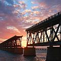 Sunset At Flagler Bridge by Patsy Zedar
