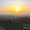 Sunset At Glastonbury Tor by Andrew Middleton