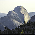 Sunset At Half Dome From Olmsted Pt by Gene Norris
