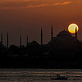 Sunset At Historical Peninsula In Istanbul by Ayhan Altun