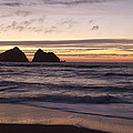 Sunset At Holywell Bay by Chris Smith