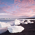 Sunset At Ice Beach by Nian Chen