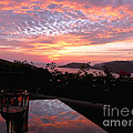 Sunset Over Zihuatanejo Bay by Rosanne Licciardi