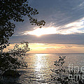 Sunset At Lake Winnipeg by Mary Mikawoz