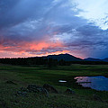 Sunset At Locke's Pond - Big Horn Mountains - Buffalo Wyoming by Diane Mintle