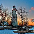 Sunset At Marblehead Lighthouse by Nick Zelinsky