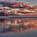 Sunset At Morro Strand by Beth Sargent