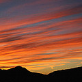 Sunset At Mt. Ord by Tom Janca