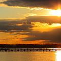 Sunset At National Harbor by Scott Fracasso