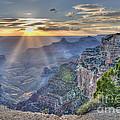 Sunset At Northern Rim Of The Grand Canyon by Wanda Krack