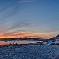 Sunset At Scituate Light by Jeff Folger