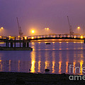 Sunset At Southampton Docks by Terri Waters