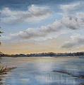Sunset At Sparta Lake New Jersey by Katalin Luczay