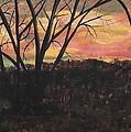 Sunset At Spring City Tenn by Myrtle Joy