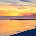 Sunset At St. Andrews Beach by Walt Sterneman