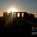Sunset At Stonehenge 3 by Deborah Smolinske