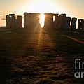 Sunset At Stonehenge 4 by Deborah Smolinske