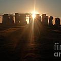 Sunset At Stonehenge 6 by Deborah Smolinske
