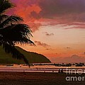 Sunset At The Beach - Puerto Lopez - Ecuador by Julia Springer