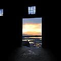 Sunset At The Door - The Great Salt Lake by Steven Milner