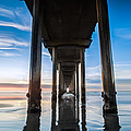 Sunset at the Iconic Scripps Pier by Larry Marshall