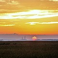 Sunset At The Indian River Power Plant by Kim Bemis