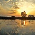 Sunset At The Lake by Rumiana Nikolova