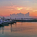 Sunset At The Marina by Jim Sweida