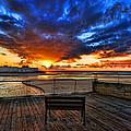 sunset at the port of Tel Aviv by Ron Shoshani