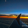 Sunset At Thirty Thousand Feet by Ron Roberts