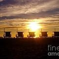 Sunset At Venice Beach by Jerome Stumphauzer
