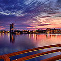 Sunset Balcony Of The West Palm Beach Skyline by Debra and Dave Vanderlaan