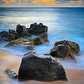 Sunset Beach Rocks by Inge Johnsson