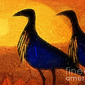 Sunset Birds by Lutz Baar