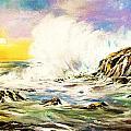 Sunset Breakers by Al Brown
