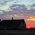 Sunset By The Barn 2 by Bonfire Photography