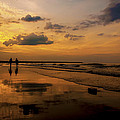 Sunset By The Beach by Anthony Melendrez