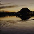 Sunset Canoe by Lorraine Harrington
